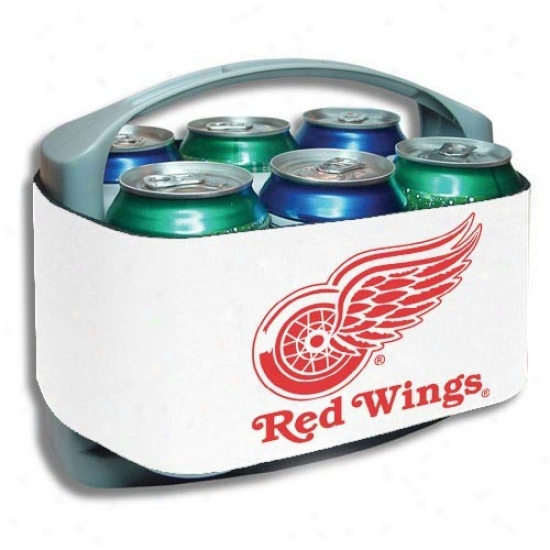 Detroit Red Wings White Cool Six Cooler