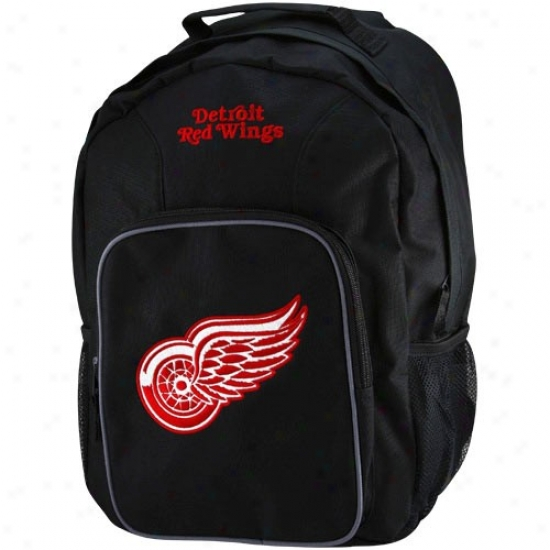 Detroit Red Wings Youth Black Soutnpaw Backpack
