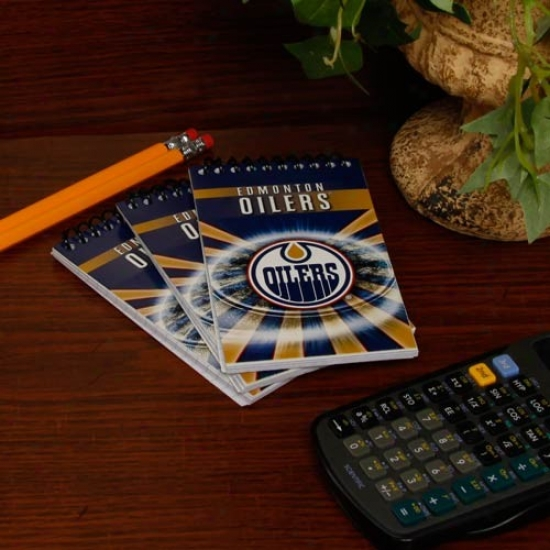 Edmonton Oilers 3-pack Meemo Books