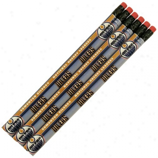 Edmonton Oilers 6-pack Team Logo Pencil Set