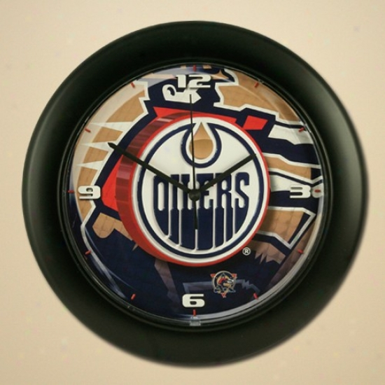 Edmonton Oilers High Definition Wall Clock
