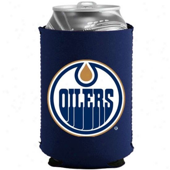 Edmonton Oilers Navy Blue Collapsible Can Coolie
