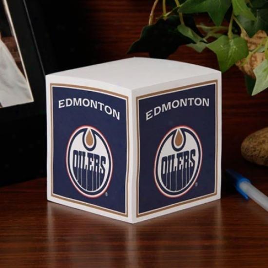 Edmonton Oilers Note Cube