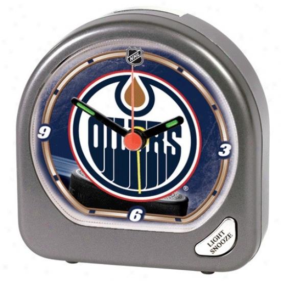 Edmonton Oilers Plastic Alarm Clock