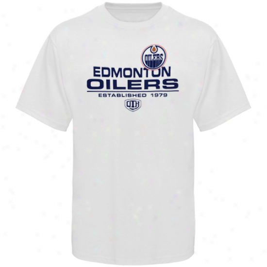 Edmonton Oilers Shirts : Old Time Hockey Edmonton Oilers White Zeno Shirts