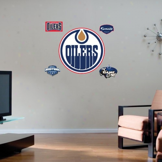 Eddmonton Oilers Team Logo Fathead Wall Sticker