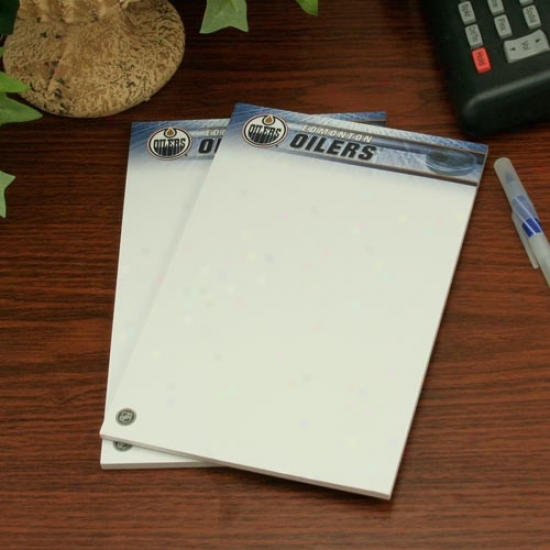 Edmonton Oilers Two-pack 5'' X 8'' Team Logo Notepads