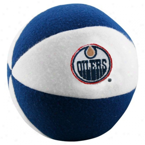 Edmonton Oilers White-navy Blue Plush Team Bzll Rattle