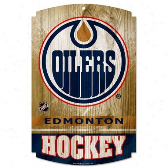 Edmonton Oilers Forest Sign