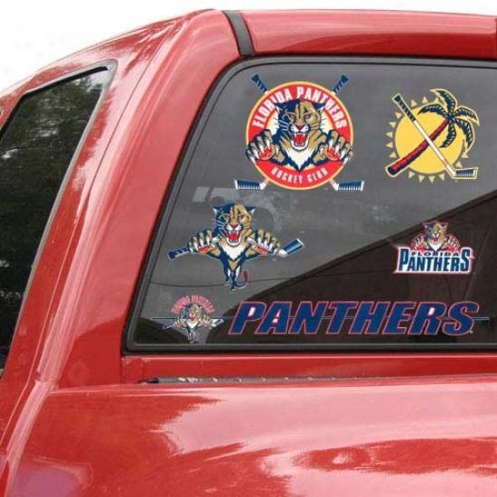 Florida Panthers 11'' X 17'' Window Clings Sheet