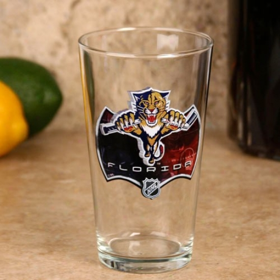 Florida Panthers 17 Oz. Enhanced Hi-def Mixing Glass