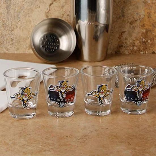Florida Panthers 4-pack Enhanced High Explanation  Design Shot Glass Srt
