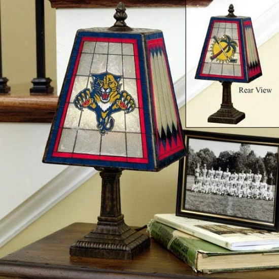 Florida Panthers Art-glass Lamp