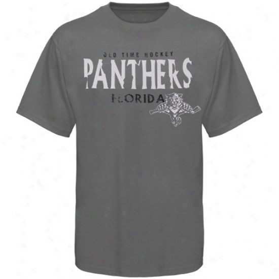 Florida Panthers Attire: Old Time Hockey Florida Panthers Charcoal tS. Croix T-shirt