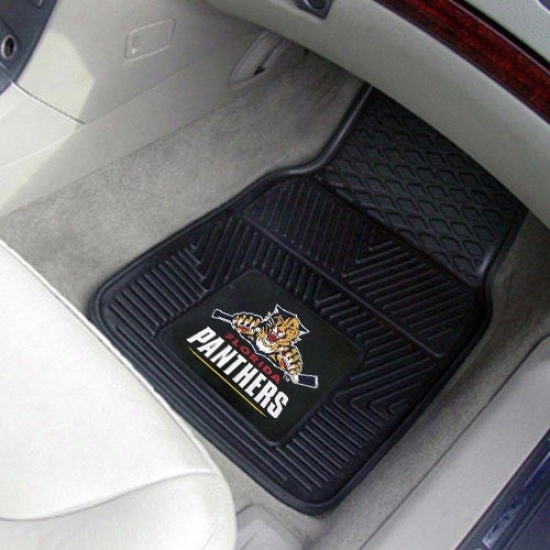 Florida Panthers Black 2-piece Vinyl Car Interweave Set