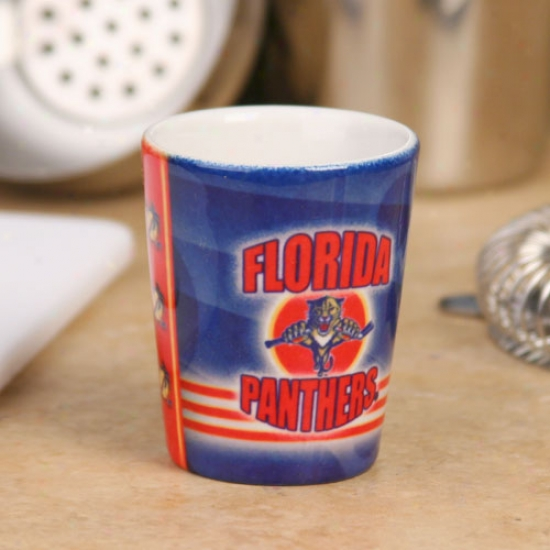 Florida Panthers Blacl End Zone Ceramic Shot Glass