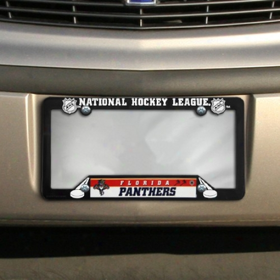 Florida Panthers Black Plastic License Dish Frame