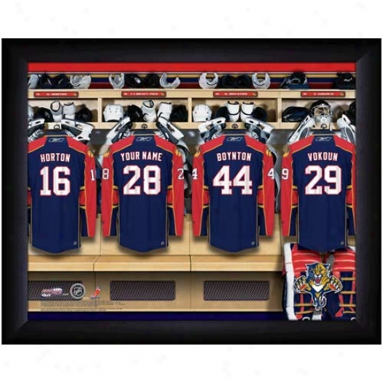 Florida Panthers Customized Locker Room Black Framed Photo