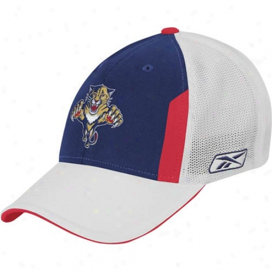 Florida Panthers Hat : Reebok Florida Panthers 2008 Nhl Make an outline of Day Flex Fit Hat