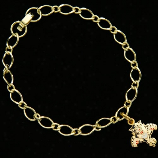 Florida Panthers Ladies Gold-tone Charm Bracelet