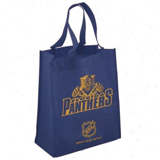 Florida Panthers Navy Blue Reusable Tote Bag
