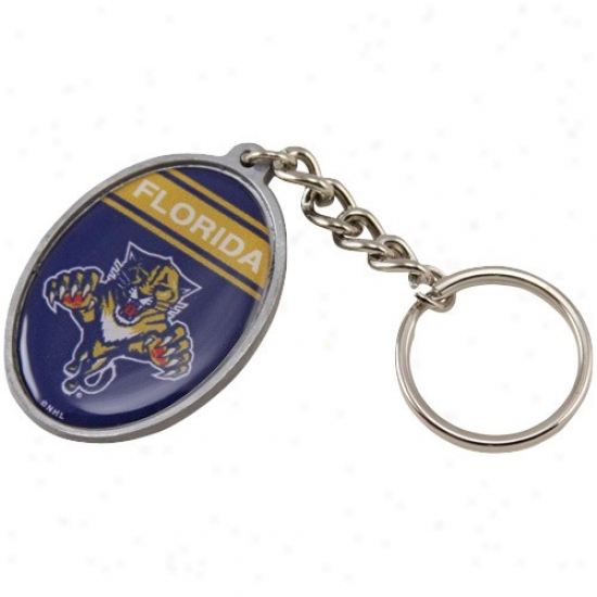 Florida Panthers Oval Keychain