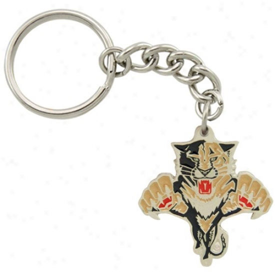 Florida Panthers Pewter Primary Logo Keychain