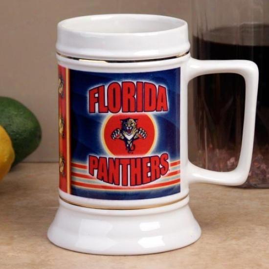 Florida Panthers Slapshot 28oz. Ceramic Stein