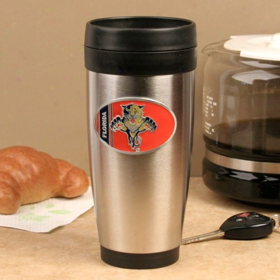 Florida Panthers Stainless Steel Team Logo Travel Tumbler