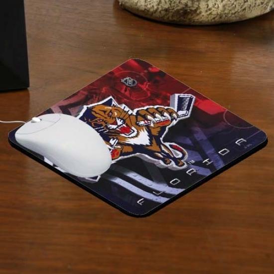 Florida Panthers Team Logo Neoprene Mousepad