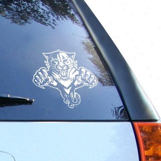 Florida Panthers White 8'' X 8'' Logo Decal