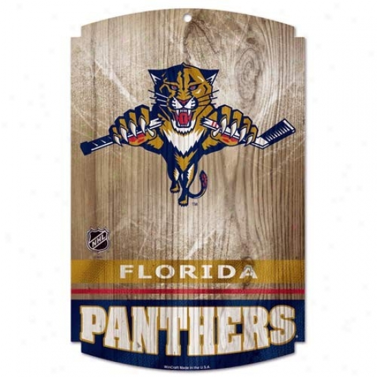 Florida Panthers Wood Signn