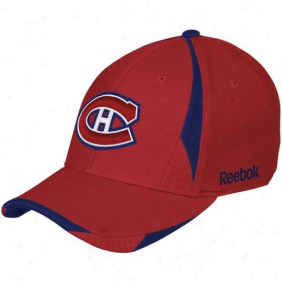 Habs Hat : Reebok Habs Red Player 2nd Season Flex Fit Hat