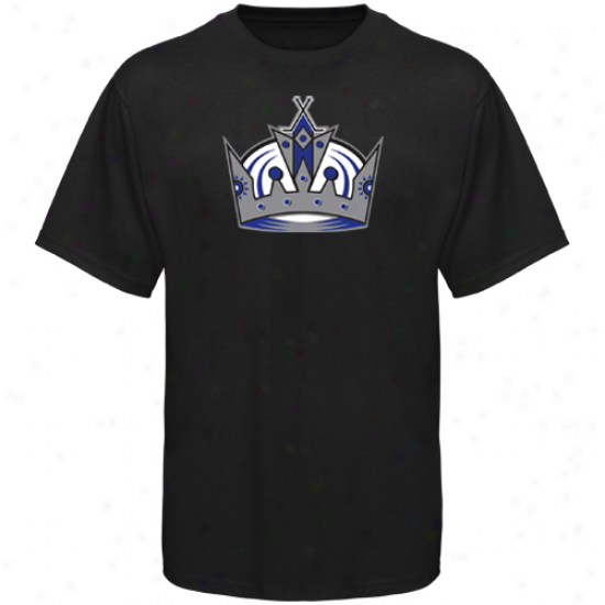 La King Tshirts : Old Time Hockey La King Black Big Logo Tshirts