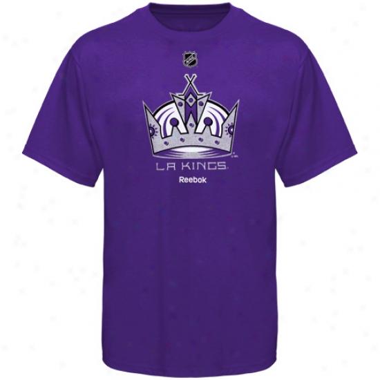 La Kings T Shirt : Adidas La Kings Youth Purple Full Primary Logo T Shirt