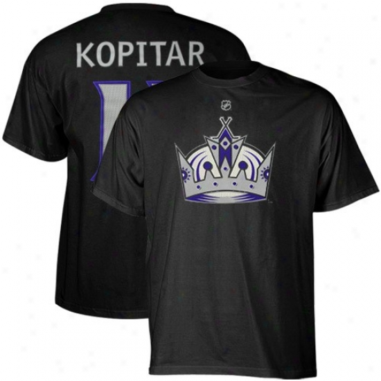 Los Angeles King T-zhirt : Rdebok Los Angeles King #11 Anze Kopitar Black Player T-shirt