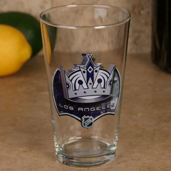 Los Angeles Kings 17 Oz. Enhanced Hi-def Mixing Glass