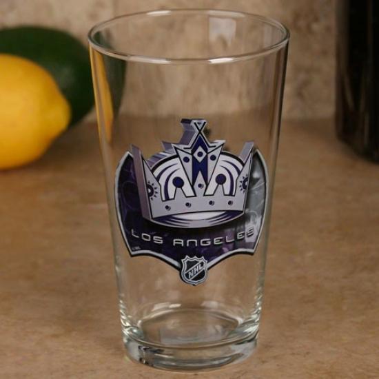 Los Angeles Kings 17 Oz. Enhanced Hi-def Mixing Glass