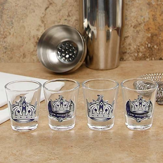 Los Angeles Kings 4-pack Enhanced High Definition Desgn Shot Glass Set