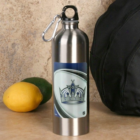Los Angeles Kings 750ml Stainless Steel Water Bottle W/ Carabiner Clip