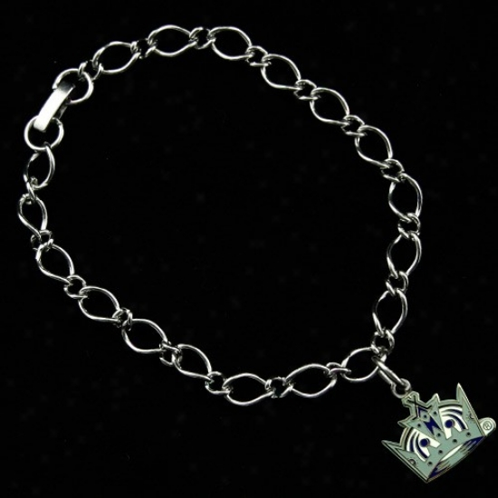 Los Angeles Kings Ladies Silvwr-tone Charm Bracelet