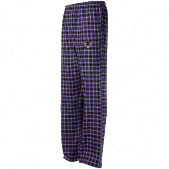 Los Angeles Kings Purple Plaid Match-up Pajama Pants