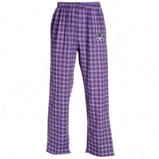 Los Angeles Kings Purple Plaid Tailgate Flannel Pajama Pants
