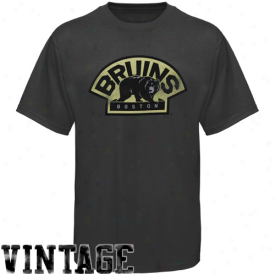 Majestic Bozton Bruins Charcoal Big Time Play T-shirt