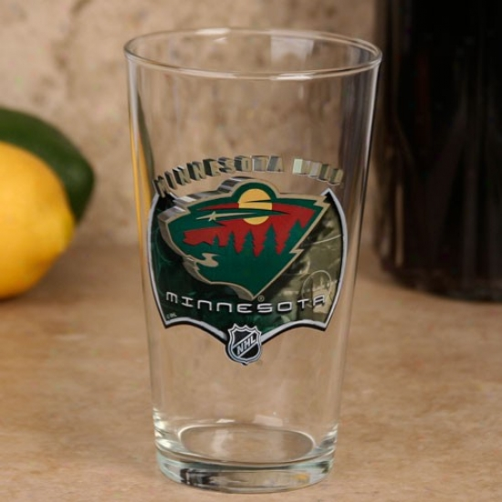 Minnesota Wild 17 Oz. Enhanced Hi-def Mixing Glass