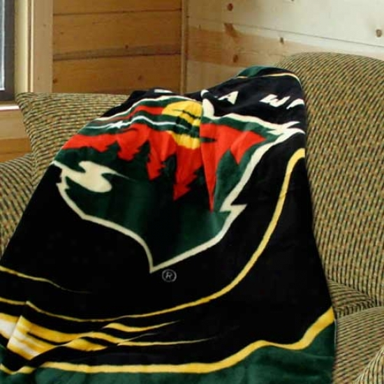 Minnesota Wild 50x60 Royal Plush Blanket Throw