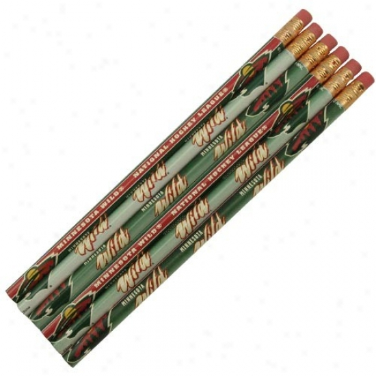 Minnesota Wild 6-pack Team Logo Pencil Set