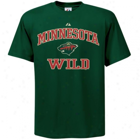 Minnesota Wild Apparel: Majestic Minnesota Wild Youth Flourishing Heart & Soul Ii T-shirt