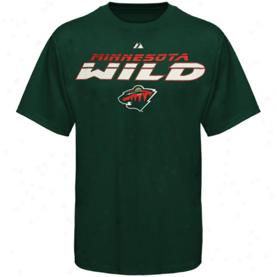 Minnesota Wild Apparel: Majestic Minnesota Wild Green Attack Zone T-shirt
