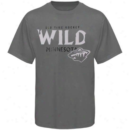 Minnesota Wild Attire: Old Time Hockey Minnesota Wild Charcoal St. Croix T-shirt